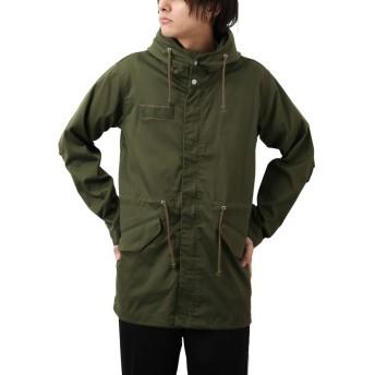 [REPIDO (リピード)] モッズコート コート ミリタリー ジャケット メンズ アウター ストレッチ ツイル メンズコート カーキ XLサイズ