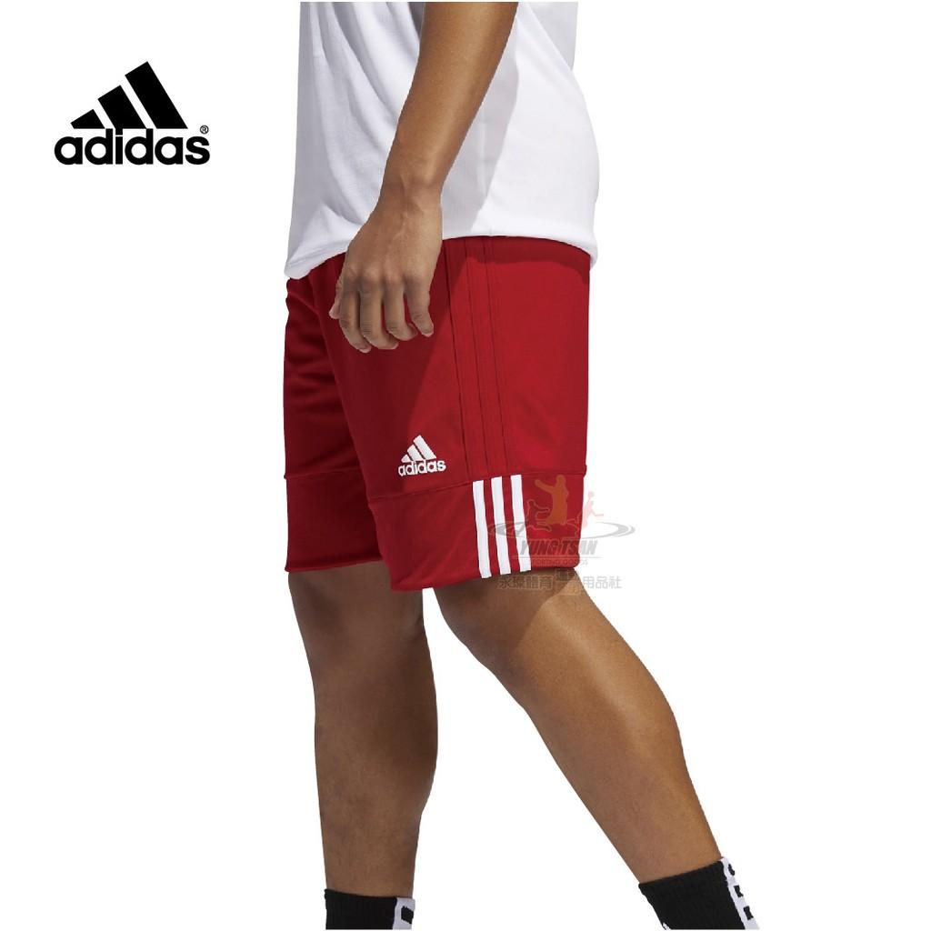 Adidas 籃球褲 紅白 雙面穿 愛迪達 雙面球褲 團體球褲 男籃球褲 籃球 球褲 DY6603 永璨