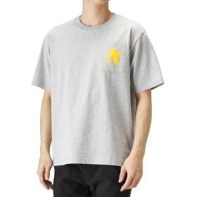 LOVE-T EVANGELION エヴァンゲリオン ルーズポケットTシャツ 半袖Tシャツ プリントTシャツ ビッグシルエット 932044MH メンズ グレー:XXL
