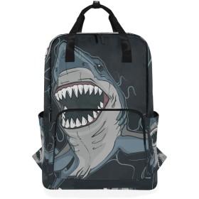 鮫 リュックサック おしゃれ バッグパック 人気 男女兼用 リュック 軽量 通学 旅行