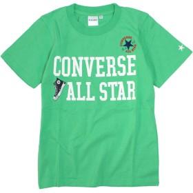 CONVERSE(コンバース) 半袖 Tシャツ キッズ 綿100% 子供 半袖Tシャツ グリーン 140cm