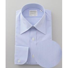五大陸 PREMIUMPLEATS ドレスシャツ / 無地 メンズ サックスブルー系 15Q3(40-85) 【gotairiku】