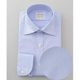 五大陸 PREMIUMPLEATS ドレスシャツ /ヘリンボーン メンズ サックスブルー系8 16H(42-86) 【gotairiku】