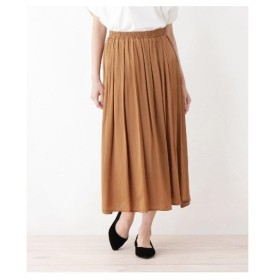 SHOO・LA・RUE(Ladies)(シューラルー(レディース))サテンギャザースカート