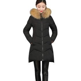 YULUO レディース ダウンコート ダウンジャケットロングコート 冬 大きいサイズ 中綿レディース 修身 暖かい コート
