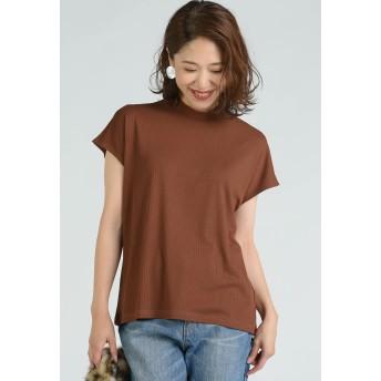 LIPSTAR リブハイネックカットソー Tシャツ・カットソー,ブラウン