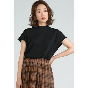 LIPSTAR リブハイネックカットソー Tシャツ・カットソー,ブラック