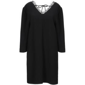 《期間限定セール開催中!》SUNCOO レディース ミニワンピース&ドレス ブラック 3 ポリエステル 100%