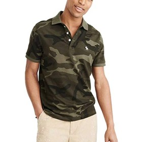 Abercrombie&Fitch アバクロ 半袖ストレッチポロシャツ STRETCH ICON POLO 121-224 (XS, 02) [並行輸入品]