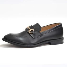 [シュベック] メンズ 靴 レディース ビット ローファー おじ靴 スリッポン 3EE 黒 茶 モード おしゃれ シューズ くつ SLT366-2244BLK 44(27.0cm) ブラック