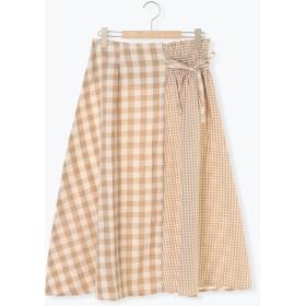 【5,000円以上お買物で送料無料】切替アシメスカート