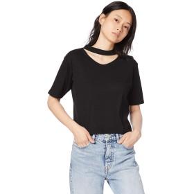 ウィゴー(レディース)(WEGO) チョーカーリブTシャツ【ブラック/F】