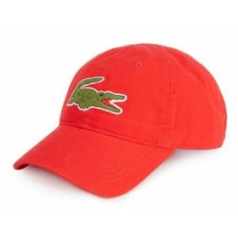 ラコステ メンズ 帽子 アクセサリー Big Croc Gabardine Cap Red