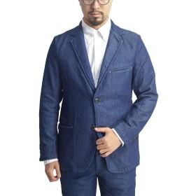KAFIKA カフィカ ワンマイル 2Bテーラードジャケット デニム スウェット 日本製 メンズ (7.INDIGO, 03)