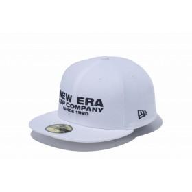【ニューエラ公式】 59FIFTY ニューエラ キャップ カンパニー ホワイト × ブラック メンズ レディース 7 1/2 (59.6cm) キャップ 帽子 12109101 NEW ERA