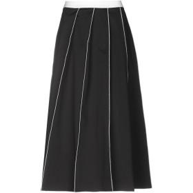 《期間限定 セール開催中》JUPE DE SATIN レディース 7分丈スカート ブラック 44 コットン 95% / ポリウレタン 5%