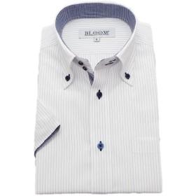 (ブルーム) BLOOM 2018夏 オリジナル 半袖 ワイシャツ クールビズ 形態安定 9 6L