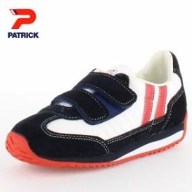 PATRICK パトリック MARATHON-V W/N マラソン・ベルクロ W/N EN7700 キッズ スニーカー ホワイトネイビー 日本製 子供靴