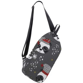 ボディバッグ クリスマスのパンダ 斜めがけ ワンショルダー 防水 おしゃれ 人気 軽量 旅行用 ビジネス 通勤 通学 アウトドア 男女兼用