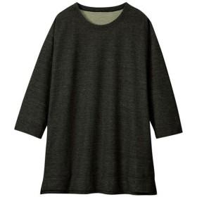 【レディース】 デニム調ニットチュニック - セシール ■カラー:ブラック ■サイズ:M-L,LL-3L