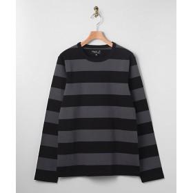 <アニエスベー オム/agnes b. HOMME> 太ボーダーTシャツ 1033・グレー×ブラック 【三越・伊勢丹/公式】