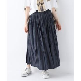FRAMeWORK Chambray twill Pleated スカート◆ ネイビー 38