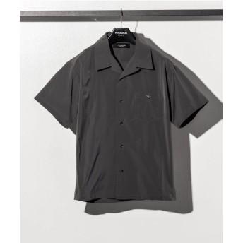SHIFFON 1PIU1UGUALE3 RELAX(ウノピゥウノウグァーレトレ) 刺繍ポケット開襟シャツ メンズ チャコールグレー L 【SHIFFON】