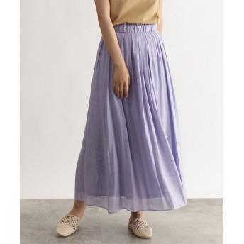 OZOC オゾック カラー消しプリーツフレアスカート