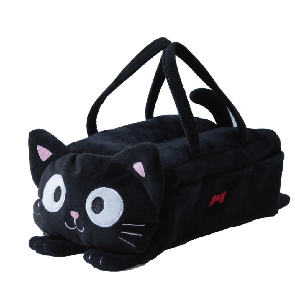 黑貓面紙盒套