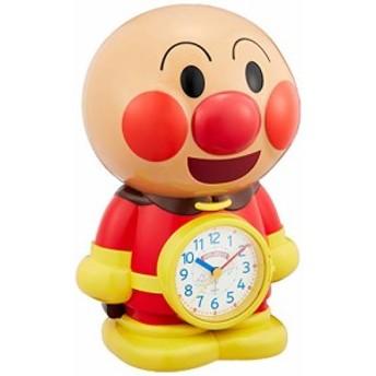 それいけ アンパンマン 目覚まし時計 キャラクター アナログ おもしろ おじゃべり 音声 3D 茶 リズム時計 4SE552-M06
