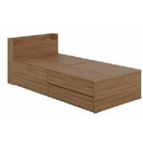 シングルベッド VAJI(ヴァジー) 整理 収納付き ベッド(整理 収納 2分割/ハイタイプ 高い ) シングル ナチュラル【組立品】  送料無