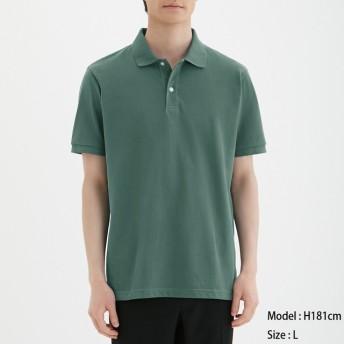 (GU)GUドライポロシャツ(半袖)CL GREEN S