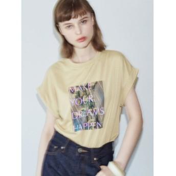【50%OFF】 ラグナムーン フラッシュプリントTシャツ レディース ベージュ F 【LAGUNAMOON】 【セール開催中】
