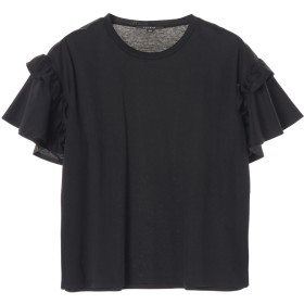 FAVEUR Faveur/ファヴール スムースコットン クルーネックショートスリーブ Tシャツ・カットソー,ブラック