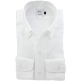(ウィンザーノット アルバートアベニュー) Windsorknot Albert Avenue ワンピースカラーのボタンダウンシャツ 白 ロイヤルオックス 無地 日本製 綿100% 双糸(細身) イタリアンカラー 長袖ドレスシャツ ib4615-4185