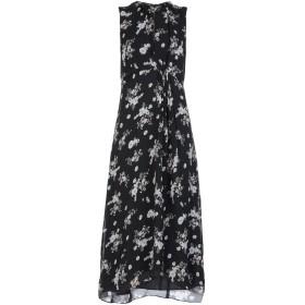 《セール開催中》VINCE. レディース ロングワンピース&ドレス ブラック L シルク 100%