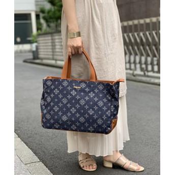 【Daily russet:バッグ】デニムジャガード仕分けトートバッグ