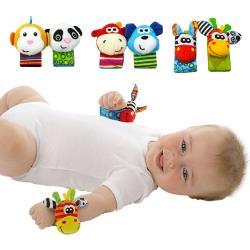 sozzy搖鈴手腕帶可愛動物手環玩具-3組6入