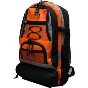 リュックサック デイバッグ カジュアルリュック 防災リュック 防災用品 災害対策 避難 7077 (オレンジ)