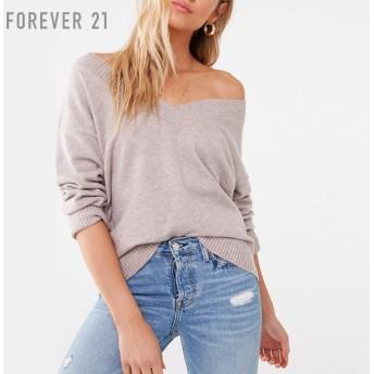 FOREVER21 フォーエバー21 【マールドVネックセーター】(5,000円以上購入で送料無料)