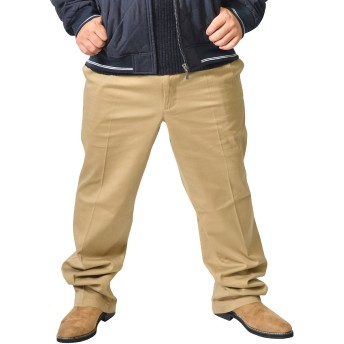 Hanes(ヘインズ) チノパン メンズ ストレッチ ツータック チノパンツ ワークパンツ スラックス 大きいサイズ 94 ベージュ(95)