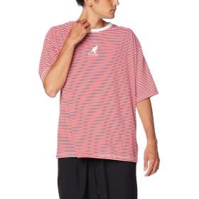 [ウィゴー] WEGO [別注] カンゴール KANGOL ボーダーT シャツ 半袖 M レッド メンズ