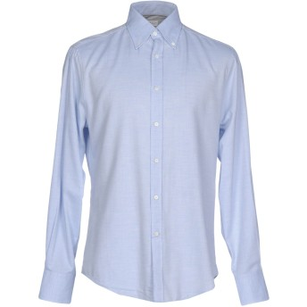 《9/20まで! 限定セール開催中》BRUNELLO CUCINELLI メンズ シャツ アジュールブルー S コットン 100%