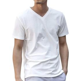 (アドミックス アトリエサブメン) ADMIX ATELIER SAB MEN メンズ ランダム パイル Vネック 半袖 Tシャツ 02-66-9786 50(L) オフホワイト