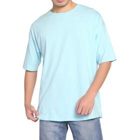 BIGHAS Tシャツ 半袖 純色 クルーネック ビッグシルエット シンプル 無地 メンズ 吸汗 速乾 おしゃれ ゆったり 男性用 カジュアル アレルギー対策済 (S(日本サイズ160~167相当), ミント)