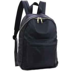 【ポートジュール】 リュック バックパック バッグ 軽量 撥水 ナイロン 収納抜群 カジュアル レディース (ブラック)