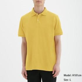 (GU)GUドライポロシャツ(半袖)CL YELLOW L