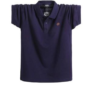 YIGAR ポロシャツ メンズ 大きいサイズ ゴルフウェア 半袖 通気性 吸汗速乾 シンプル トップス 2019新しい 通気性 ボタン 夏 綿 多色選択 M-5XL 1808 zangqing-L