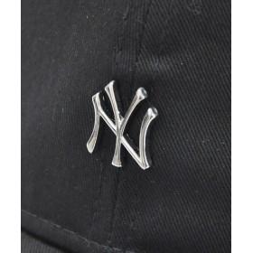 キャップ - stylise ニューエラ キャップ ◆ NEW ERA 9THIRTY クロスストラップ メタルロゴ ニューヨーク・ヤンキース ブラック×シルバー12119365 メンズ 帽子 ミニロゴ