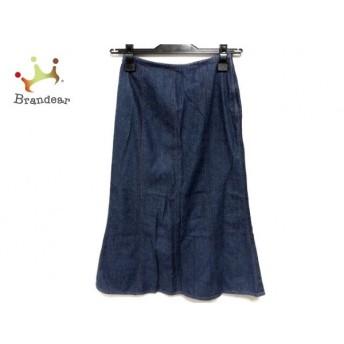 ホコモモラ JOCOMOMOLA ロングスカート サイズ40 XL レディース ネイビー デニム 新着 20190716